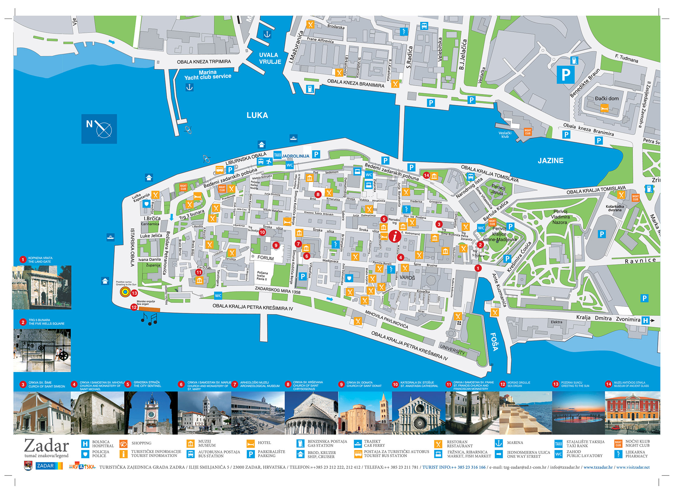 Mecame 2018 zadar old city map by zadar tourist board publicscrutiny Images